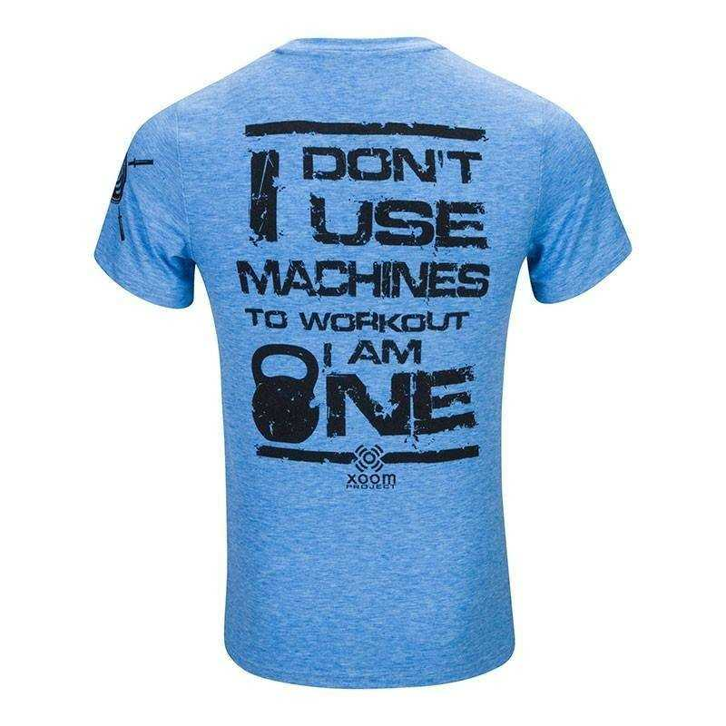 T-shirt don't use machines - Blue
