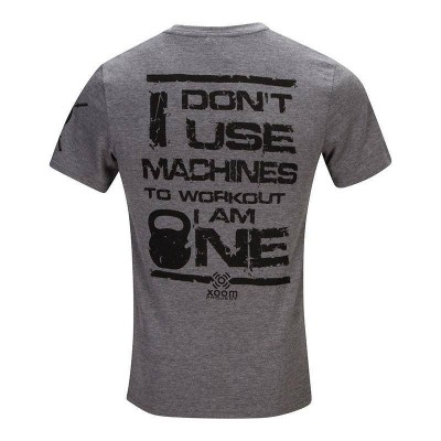 Camiseta don't use machines - Gris