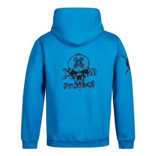 Hoodie Skull Logo - Zip Blue