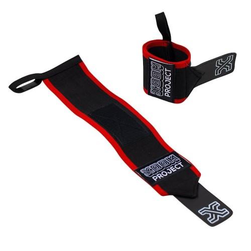 Muñequeras XoomProject Velcro - Negro-Rojo